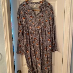 Old Navy XXL Maternity Tunic Top Black Floral